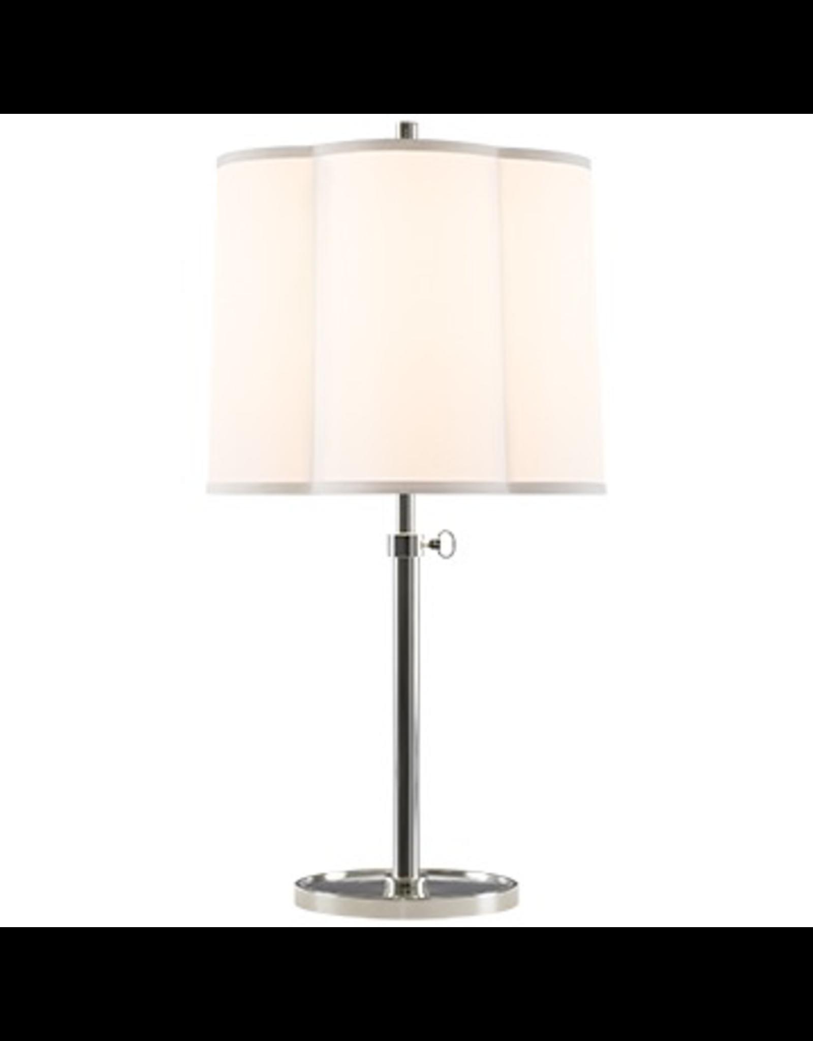 Visual Comfort Scallop Table Lamp SS W/ SIlk