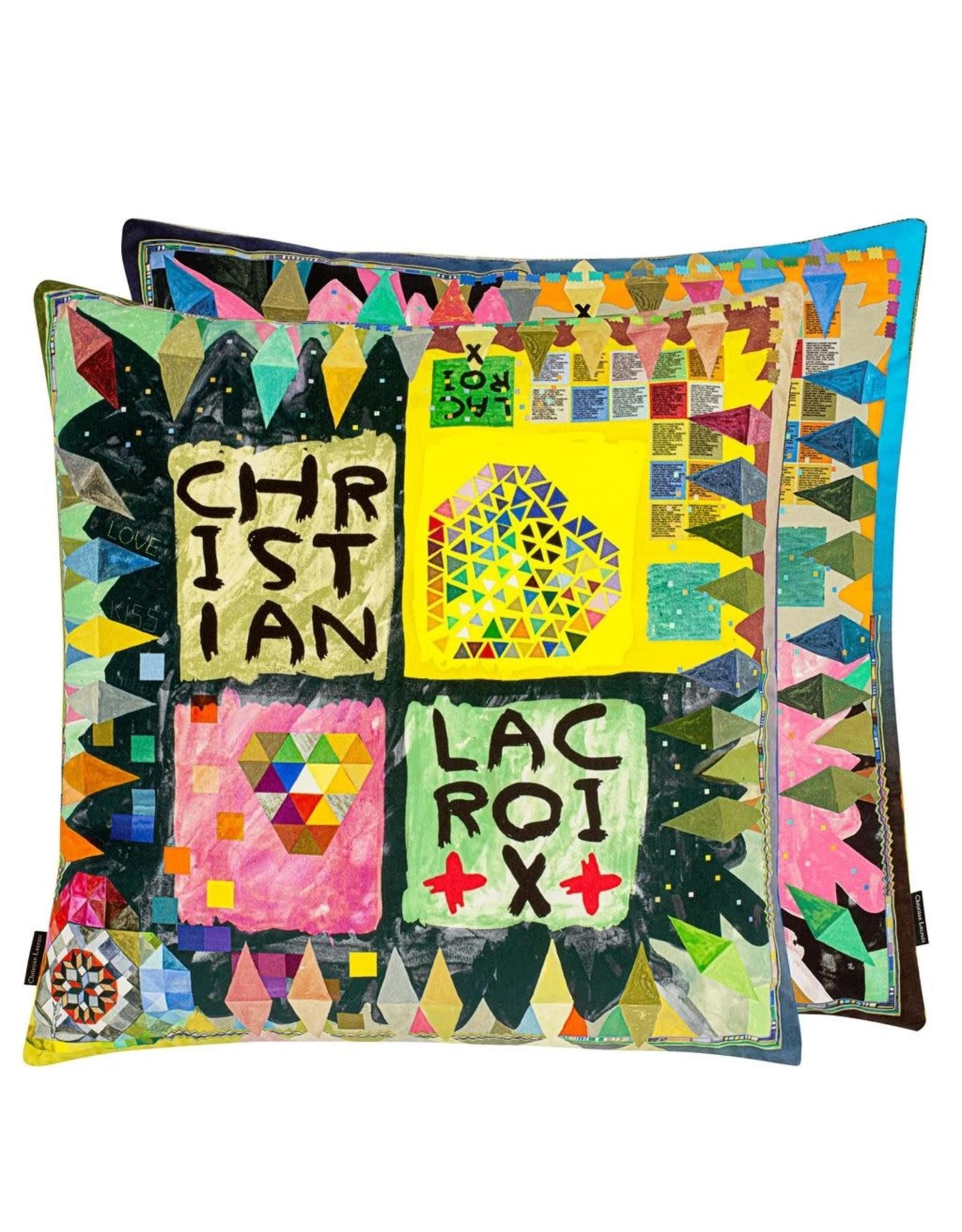 Designer's Guild Designer's Guild Arlecchino Wood Multicolore Cushion