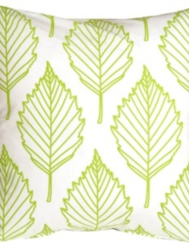 Pillow Decor Lime Green Leaf Throw Pillow 16X16