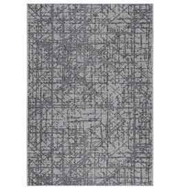 Viana 3'3 x 5' Carnival Indoor-Outdoor Polypropylene Light Grey Rug