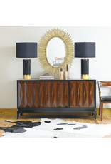 renwill The Tuxedo Black and Gold Lamp
