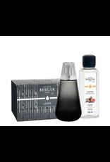 Lampe Berger Amphora Black Lamp Gift Set + 250ml (8.5oz) Sweet Fig