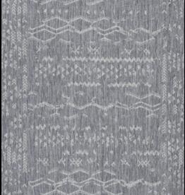 "Viana 3'3""x5 Oksana Indoor-Outdoor Geometric Grey Rug"