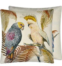 Designer's Guild Parrot and Palm Parchment DG Cushion