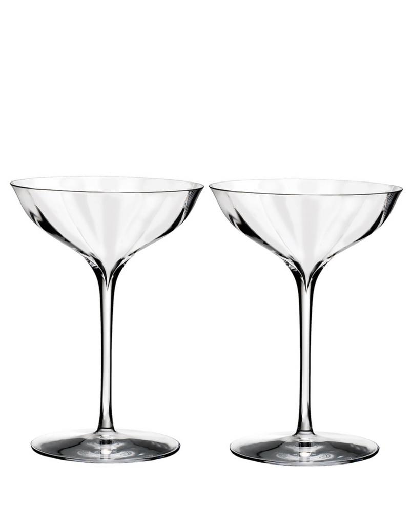 Waterford Elegance Optic Belle Coupe, Pair