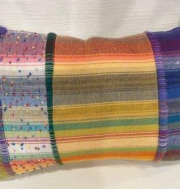 Tara Roblin Tara Roblin Textiles 14 x 20 Apricot and Lime Confetti Cushion with feather filler