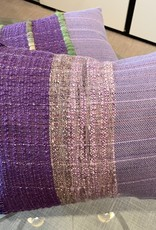 Tara Roblin Tara Roblin Textiles 14 x 18  Shades of Lavender Cushion with feather filler