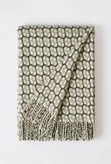 Burel Gathering throw light grey 100% merino wool