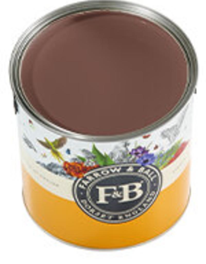 Farrow and Ball US Gallon Modern Eggshell NHM Deep Reddish Brown No.W101