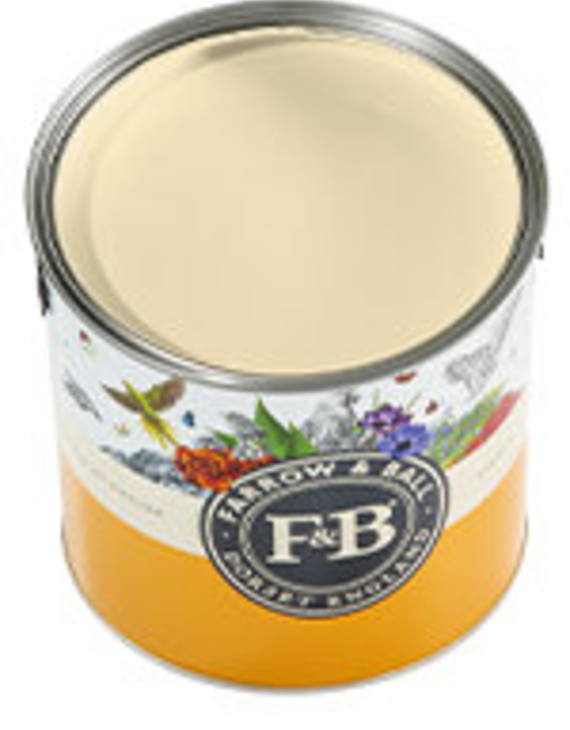 Farrow and Ball US Gallon Estate Eggshell NHM Orange coloured White No.W5