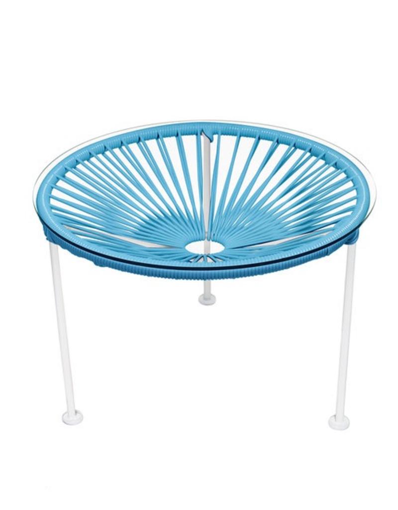 Innit Innit Zicatela Table - Blue Weave/ White Frame