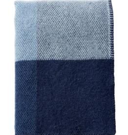 Klippan Klippan Block Throw Blue 100% brushed lamb's wool