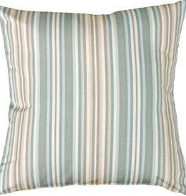 Pillow Decor Sunbrella Gavin Mist Outdoor Cushion with Outdoor filler