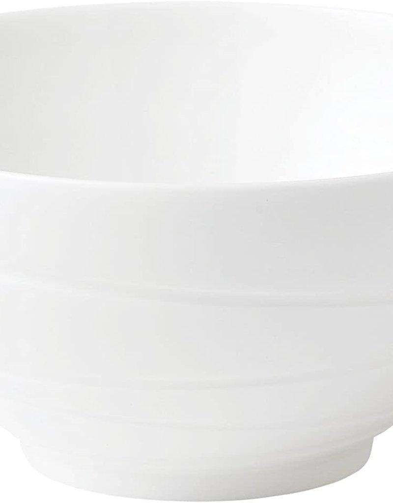 Wedgewood White Bone China Swirl Bowl