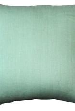 Pillow Decor 20x20 Tuscany Linen Aqua Green Pillow with feather filler