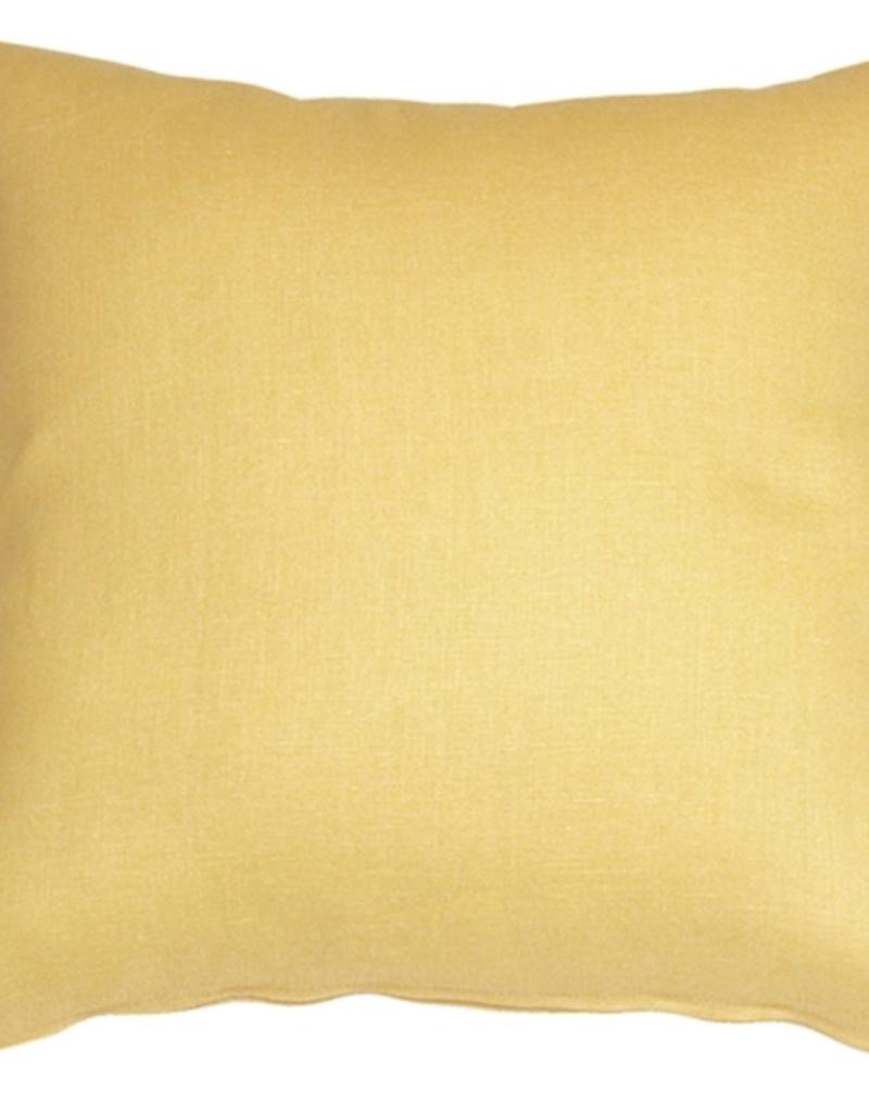 Pillow Decor 20x20 Tuscany Linen Banana Yellow Pillow with feather filler