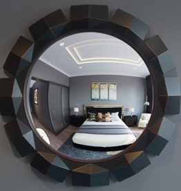 "Reflecting Design ARCADVIA 39"" BLACK CONVEX MIRROR"