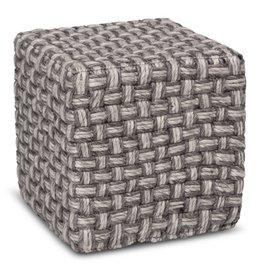 woven cube pouf