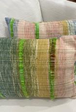 Tara Roblin Tara Roblin Textiles 14 x 20 Lime Shimmer Cushion with feather filler