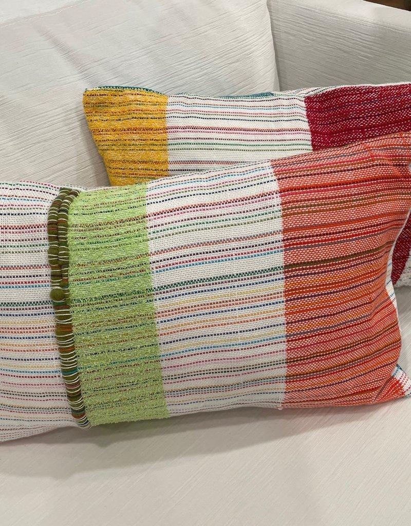 Tara Roblin Tara Roblin Textiles 14 x 20 Awning Stripe Cushion with feather filler
