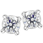 0.20CTW Round Brilliant Canadian Diamond Earrings