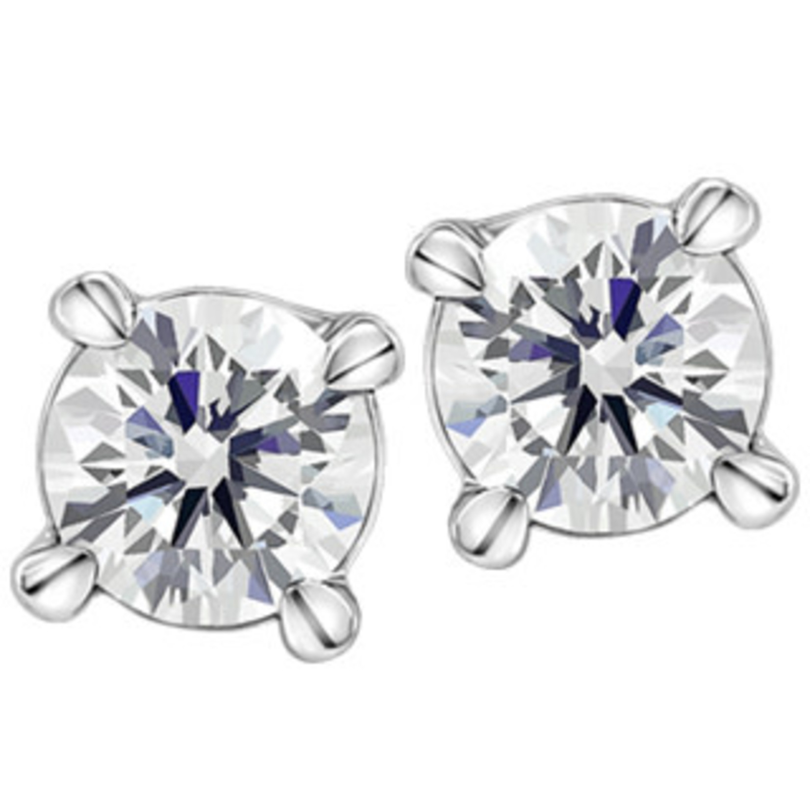 0.20CTW Round Brilliant Canadian Diamond Earrings