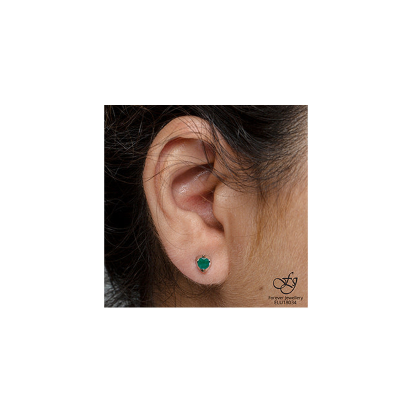 Emerald Stud Earrings
