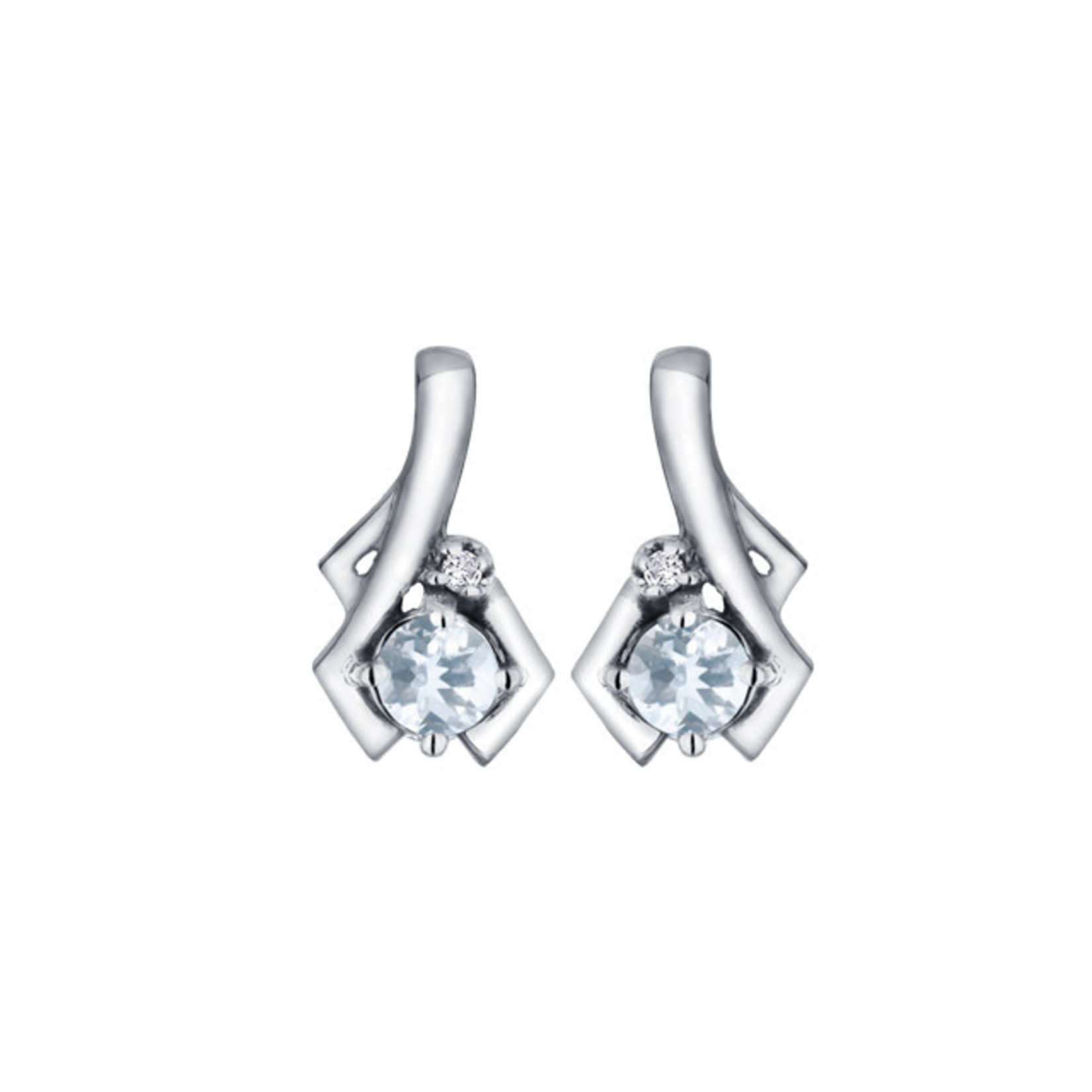 Aquamarine Earrings 10k