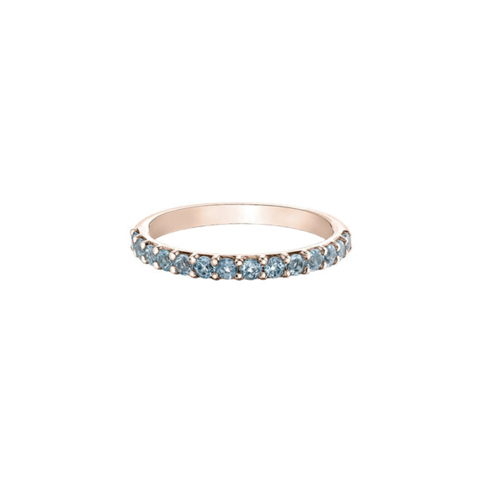 Rose Gold & Aquamarine Band