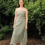 Peng Tai Peng Tai Checked Linen Dress