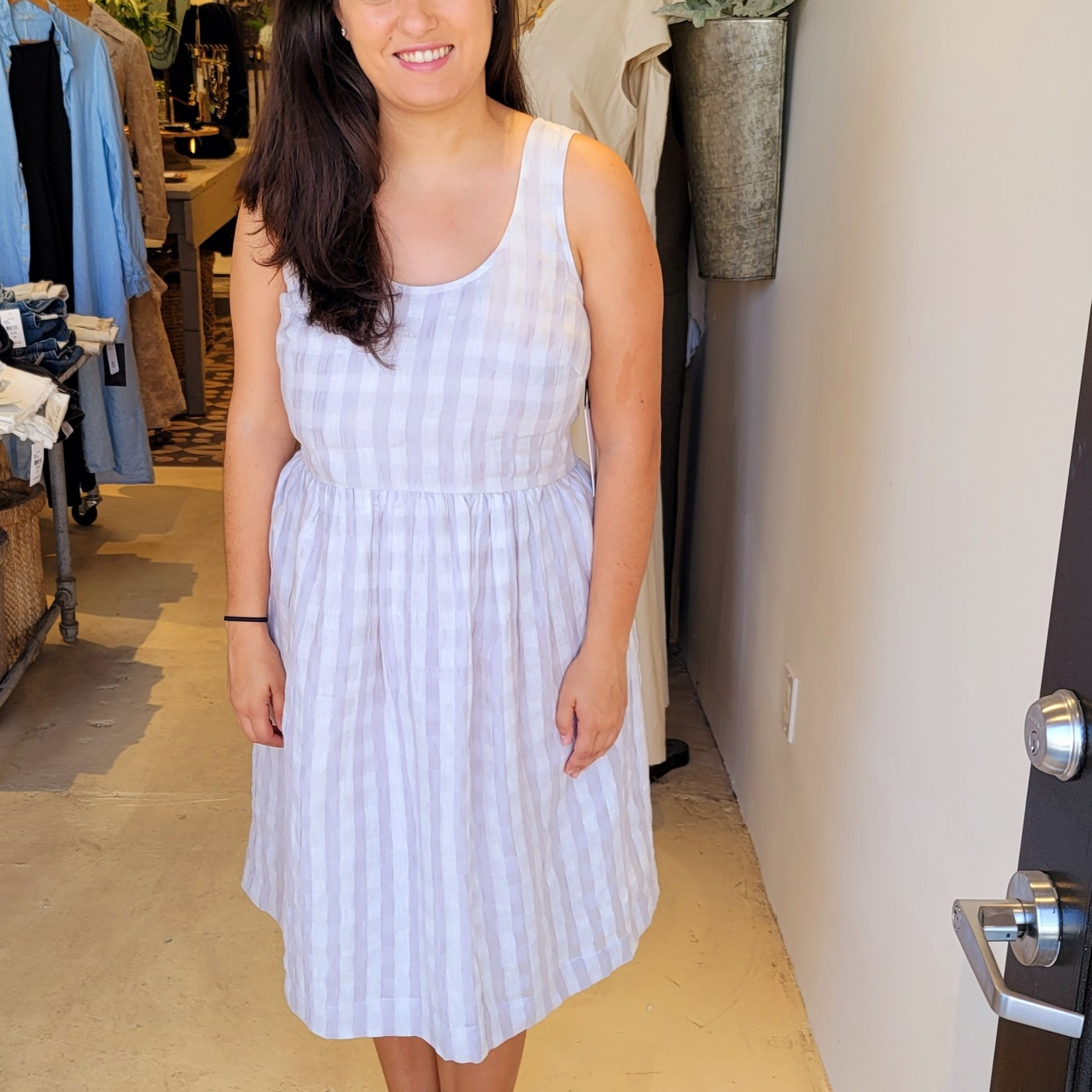 Eve Gravel Pearl Dress