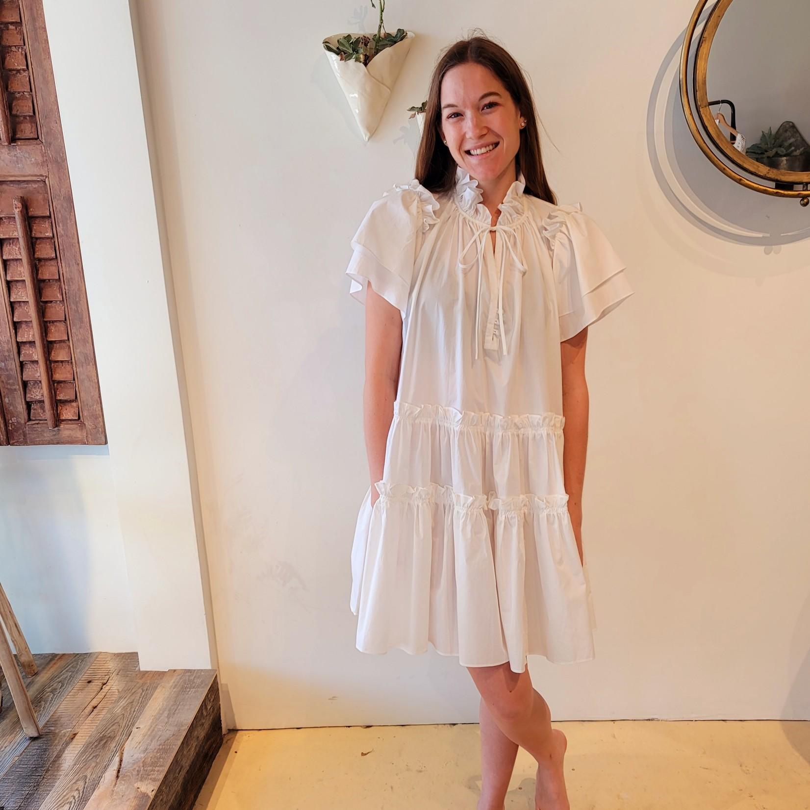 Hunter Bell Hunter Bell White Merritt Dress