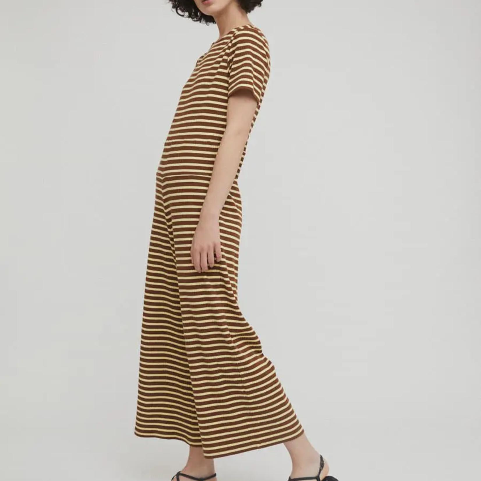 Rita Row Rita Row Cotton Striped Jumpsuit