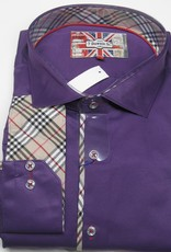 EROS SATEEN PURPLE Sport Shirt Size 9