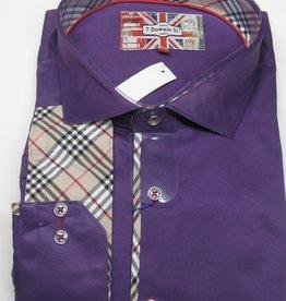 EROS SATEEN PURPLE Sport Shirt Size 9
