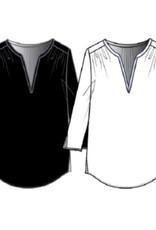 NYDJ MLER3988 858 Black Vneck Top
