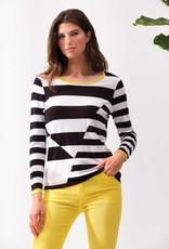 ESINC A37006 Blk/White Stripe Sweater