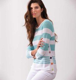 ESINC A37141 Aqua Stripe Sweater