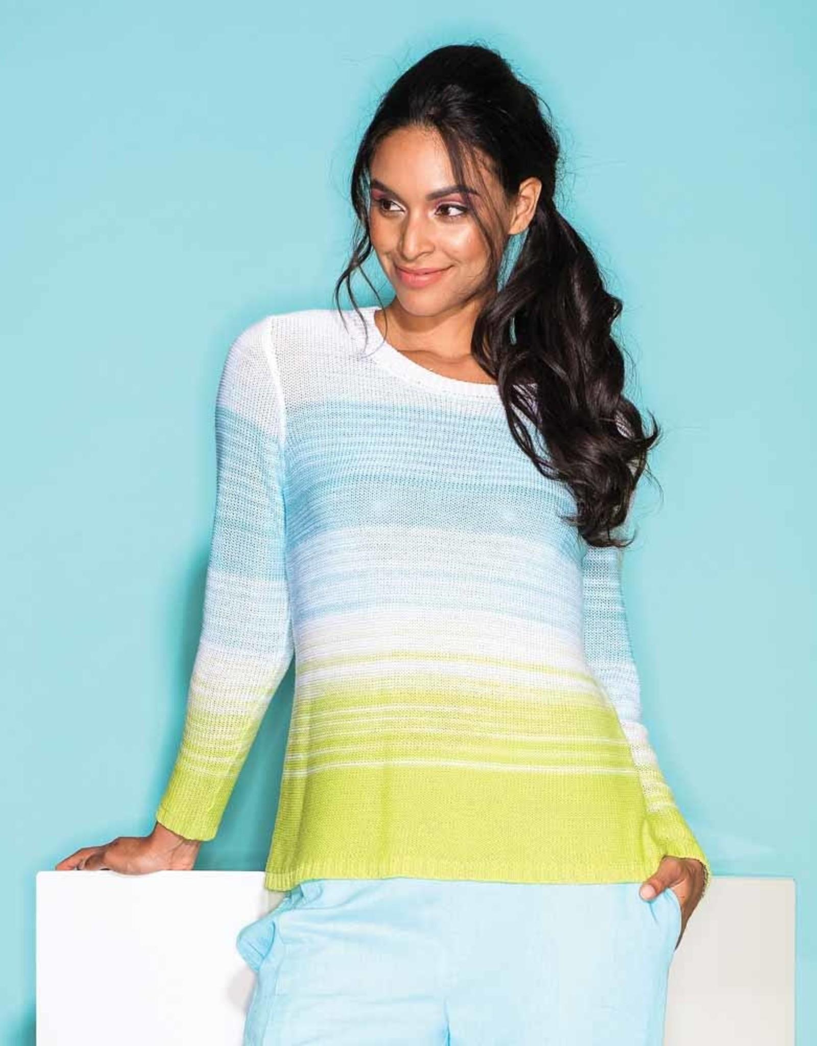 ESINC EW26121 Multi Teal Sweater