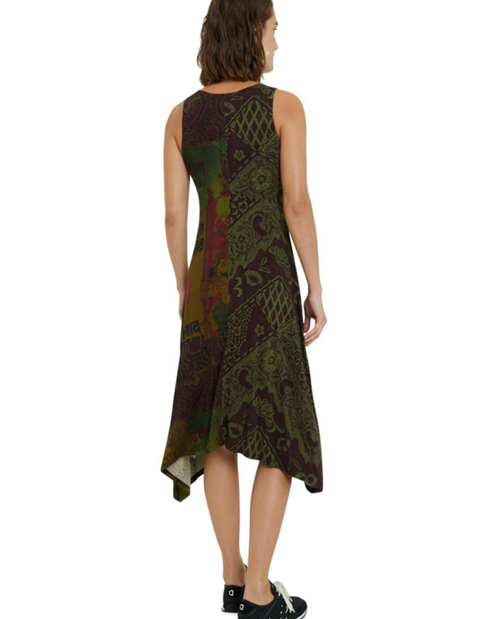 DESIG 21SWVKAX 4002 Khaki Nise Dress