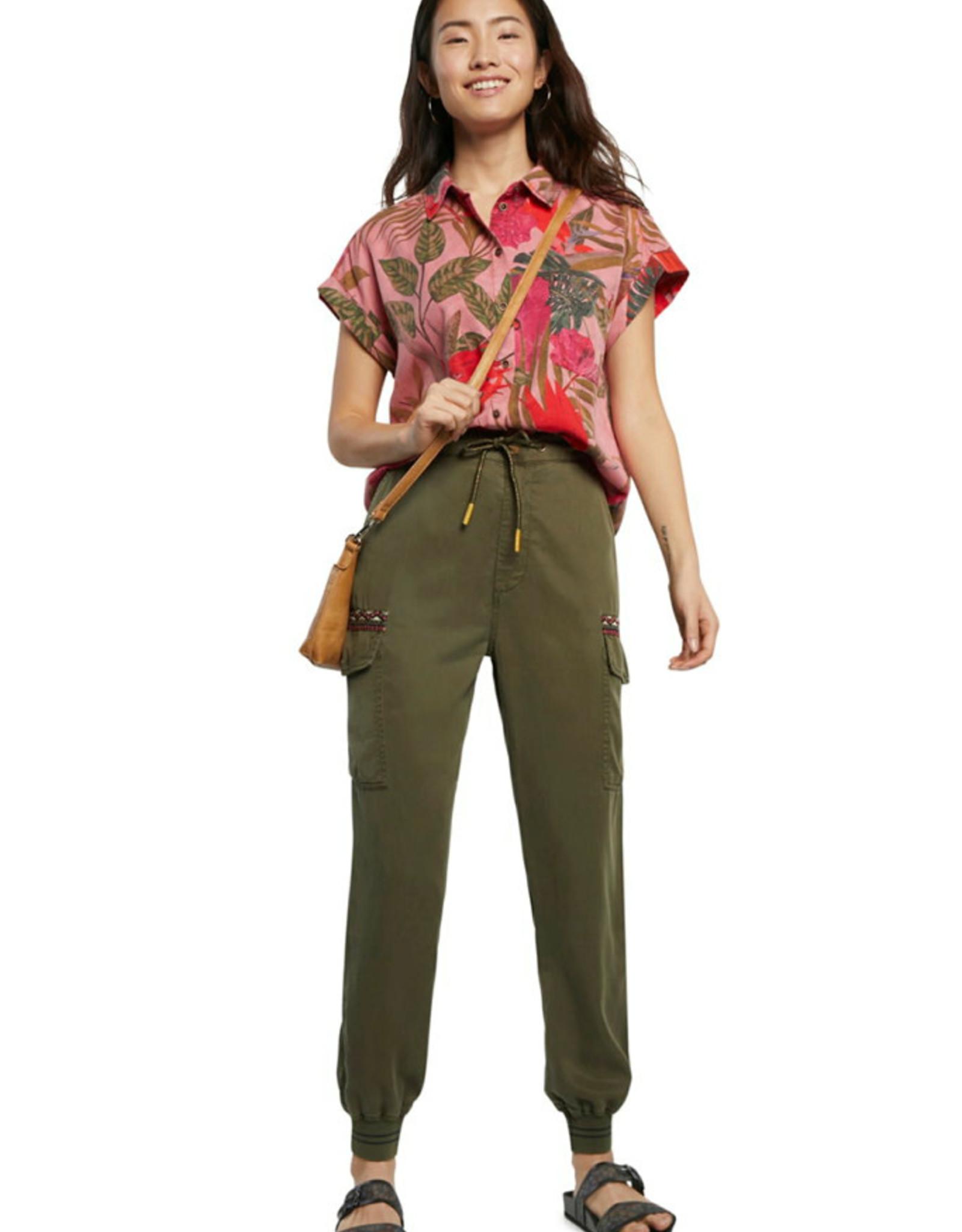 DESIG 21SWPN18 4003 Tribeca Military Green Pants