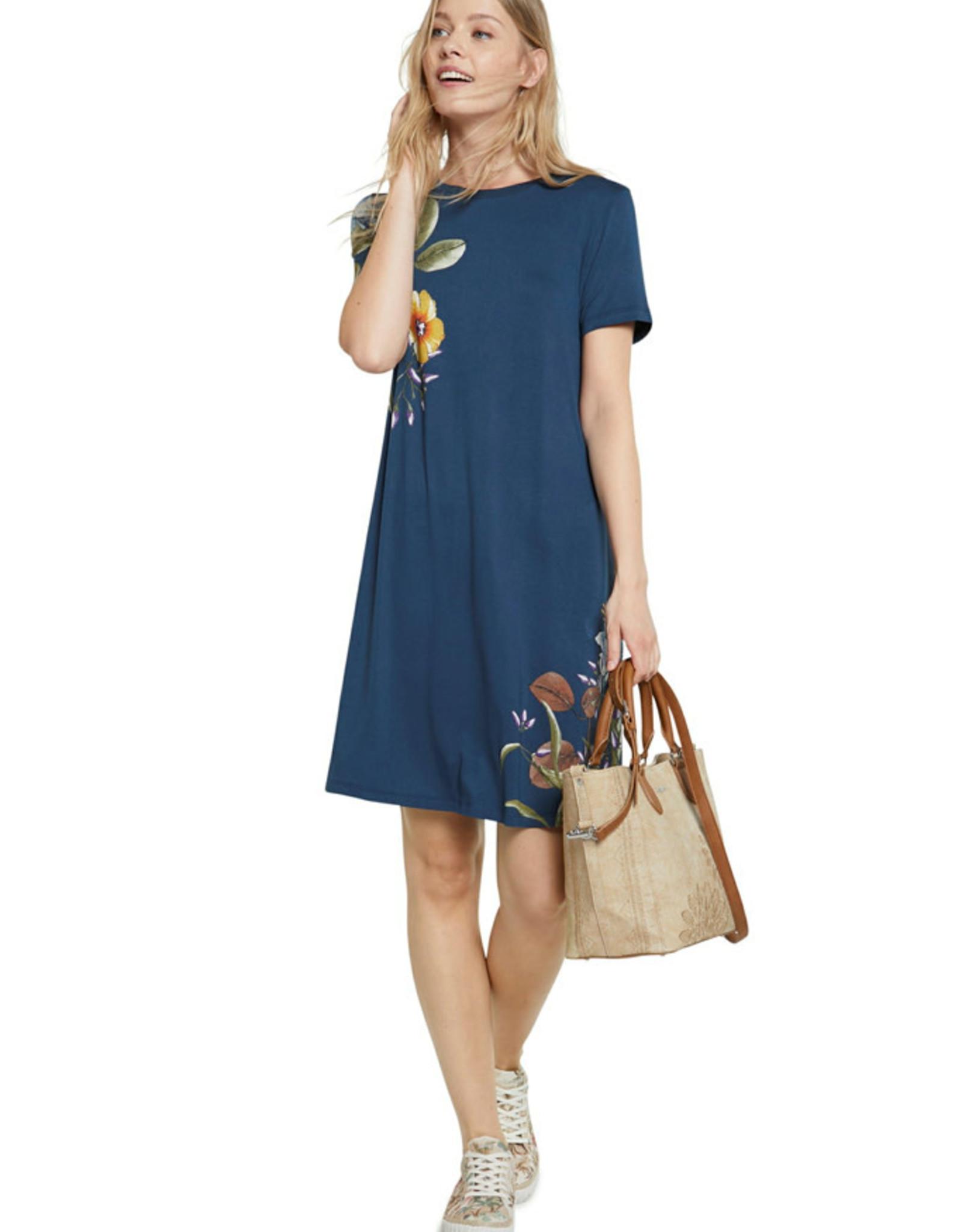 DESIG 21SWVKAG 5176 Azul Petrul Las Vegas Dress
