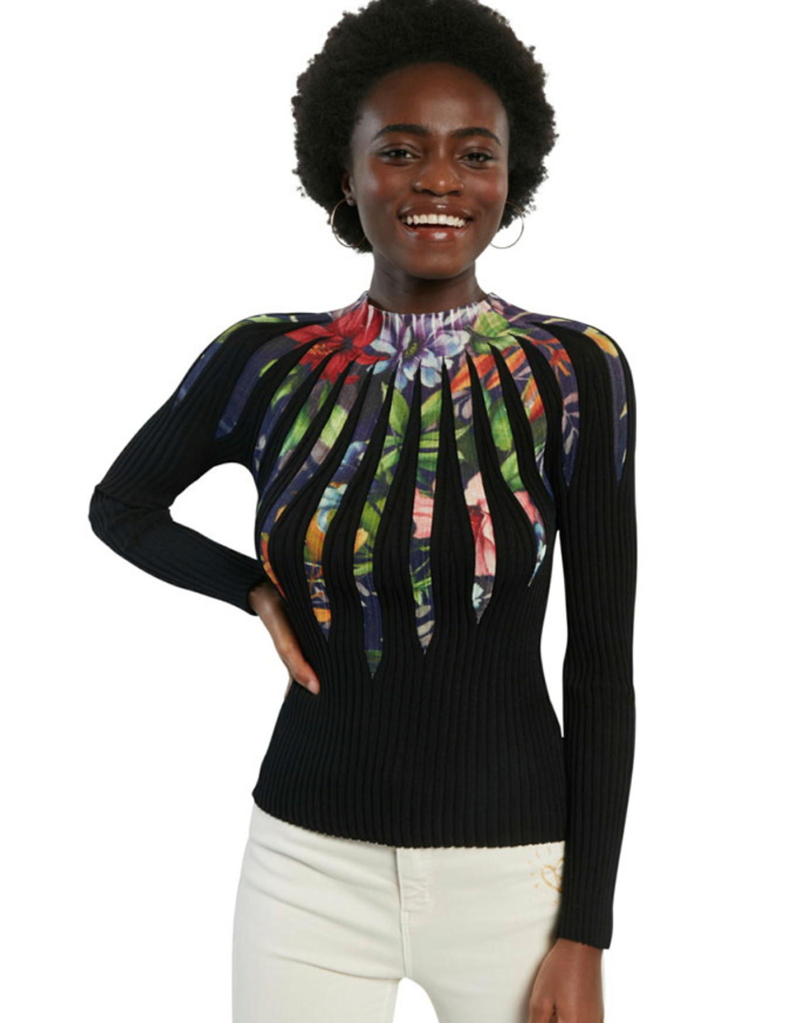 DESIG 21SWJF17 2000 Darwin Black Pullover Top