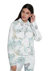 DESIG 21SWED39 1000 White Chaq Paly Denim Jacket