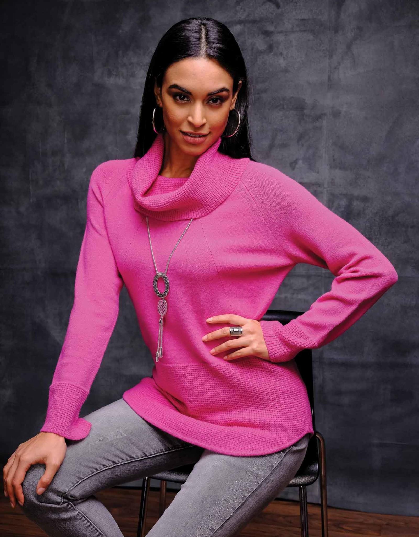 ESINC EW27063 Fuschia Cowl Sweater
