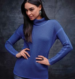 ESINC EW27063 New Blue Cowl Sweater