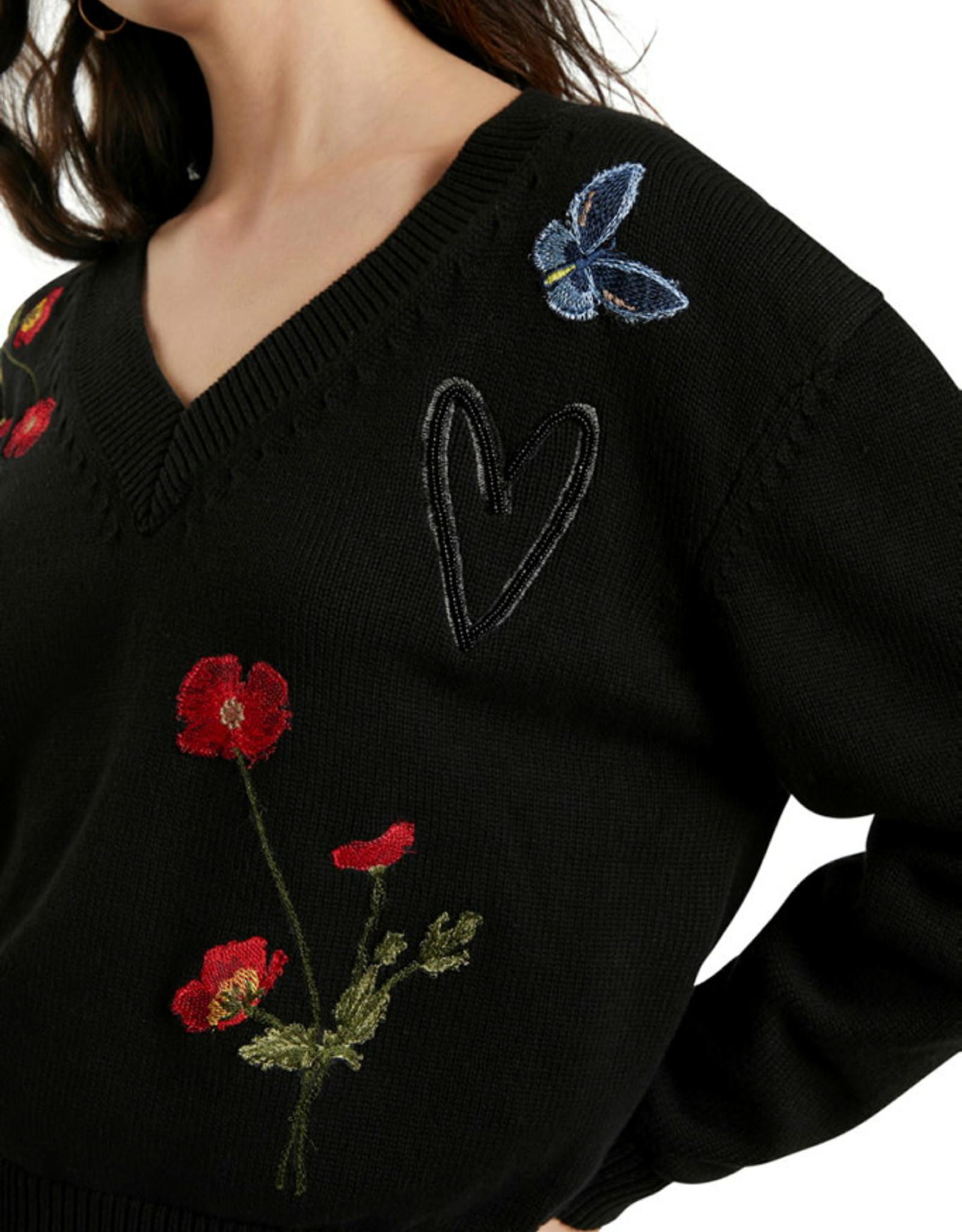 DESIG 21WWJFAM 2000 Black Luca Sweater