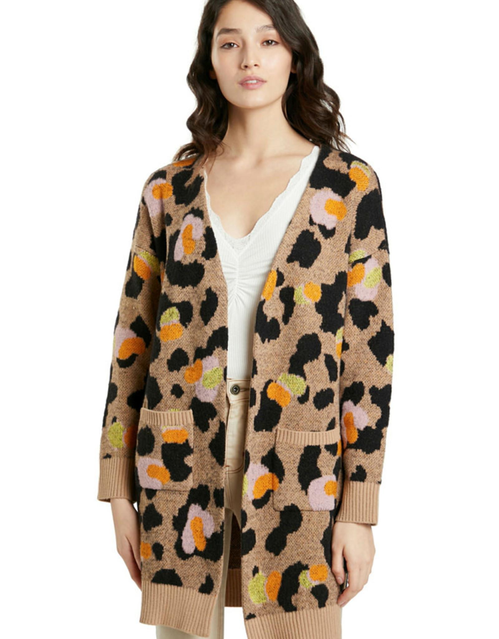 DESIG 21WWJF40 6011 Camel Sonia Cardigan Sweater