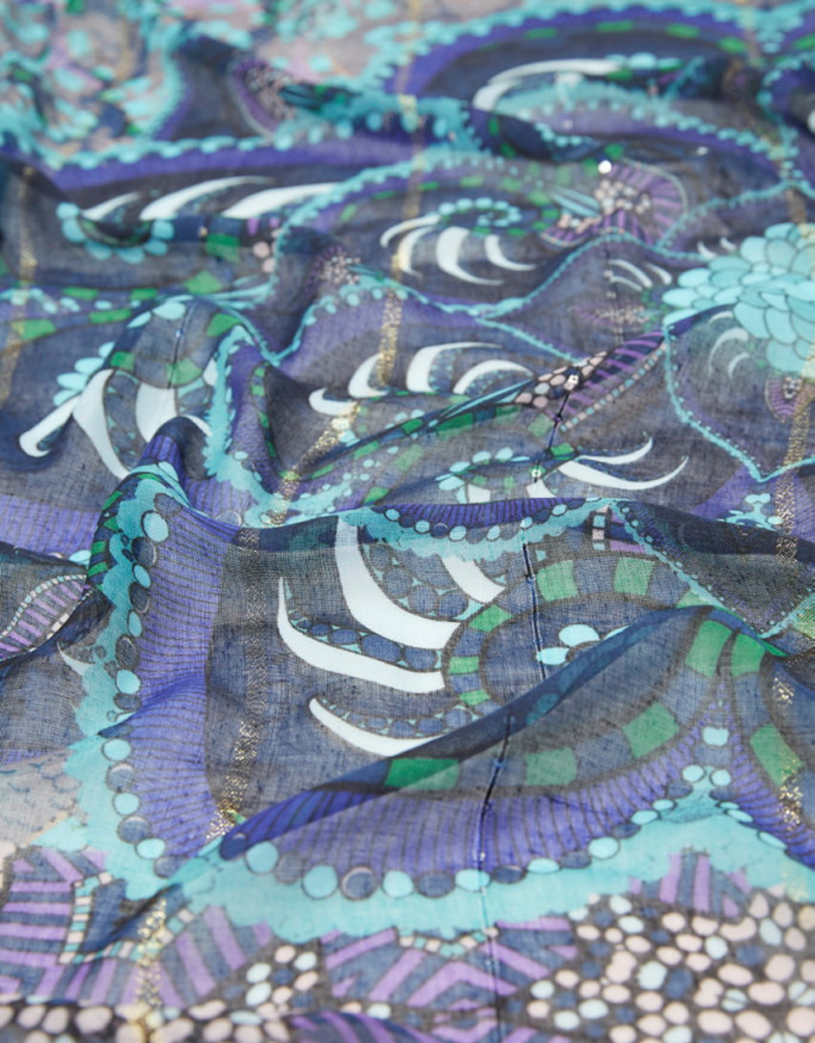 DESIG 21WAWA07 5000 Multi Print Scarf