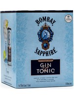 BOMBAY BOMBAY SAPHIRE GIN & TONIC 4PK 250ML